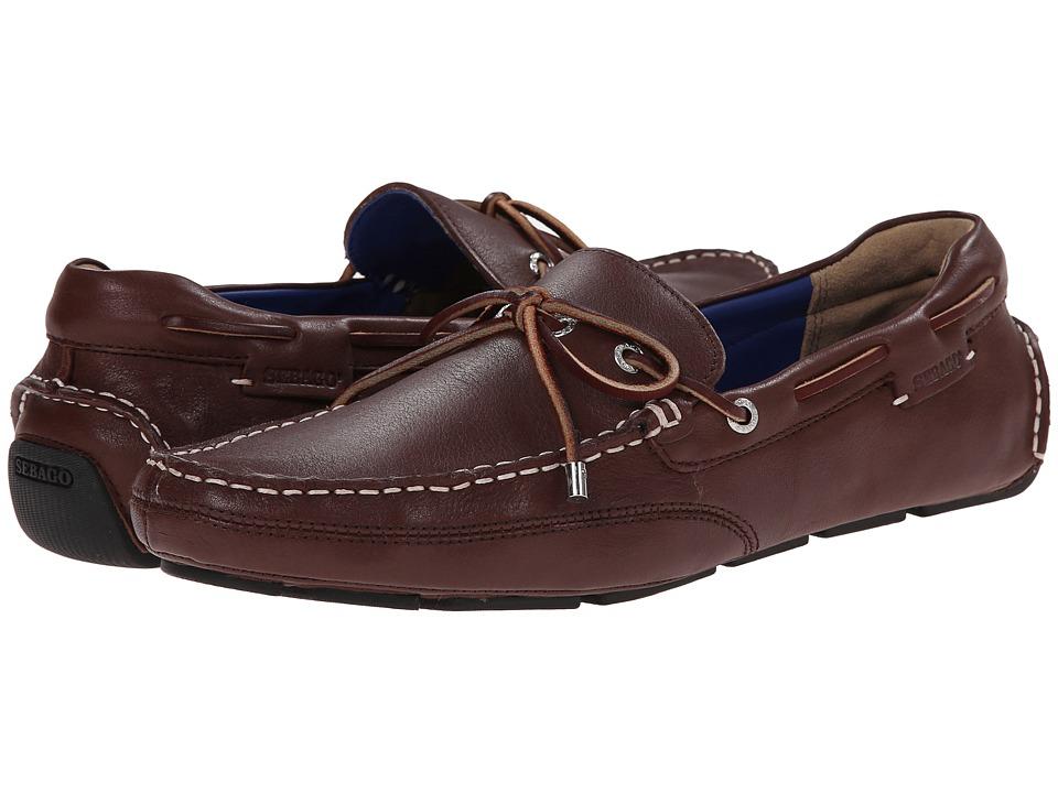 Sebago - Kedge Tie (Dark Brown Leather) Men's Shoes