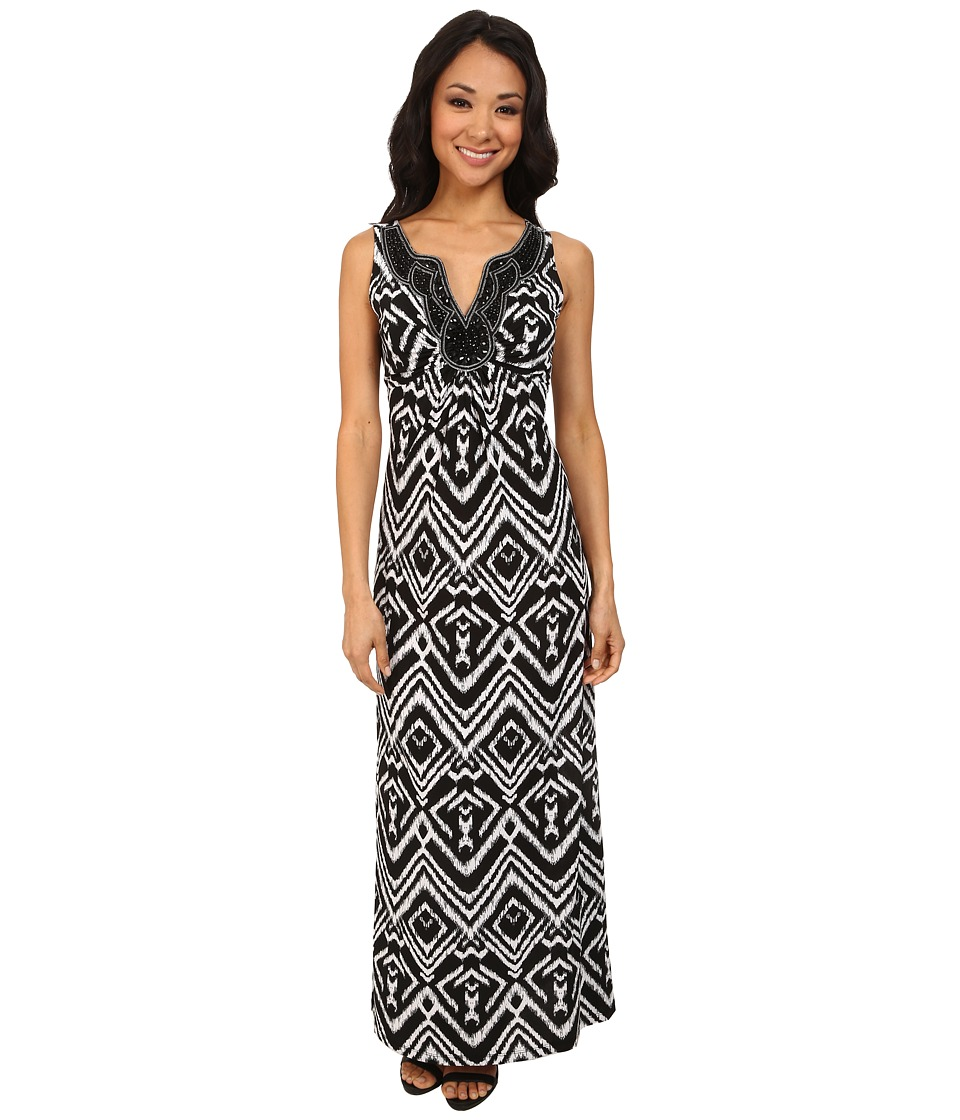 rsvp - Daisy Art Deco Dress (Black/Ivory) Women's Dress