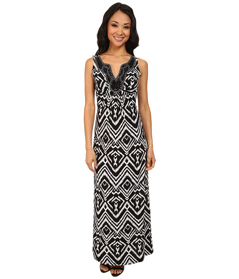 rsvp - Daisy Art Deco Dress (Black/Ivory) Women's Dress