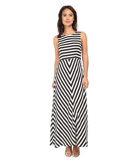 Brigitte Bailey - Riley Striped Maxi Dress (Black/White) Women
