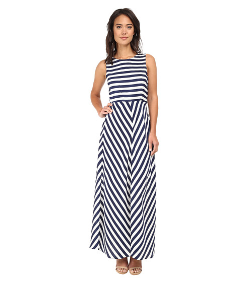 Brigitte Bailey - Riley Striped Maxi Dress (Navy/White) Women's Dress
