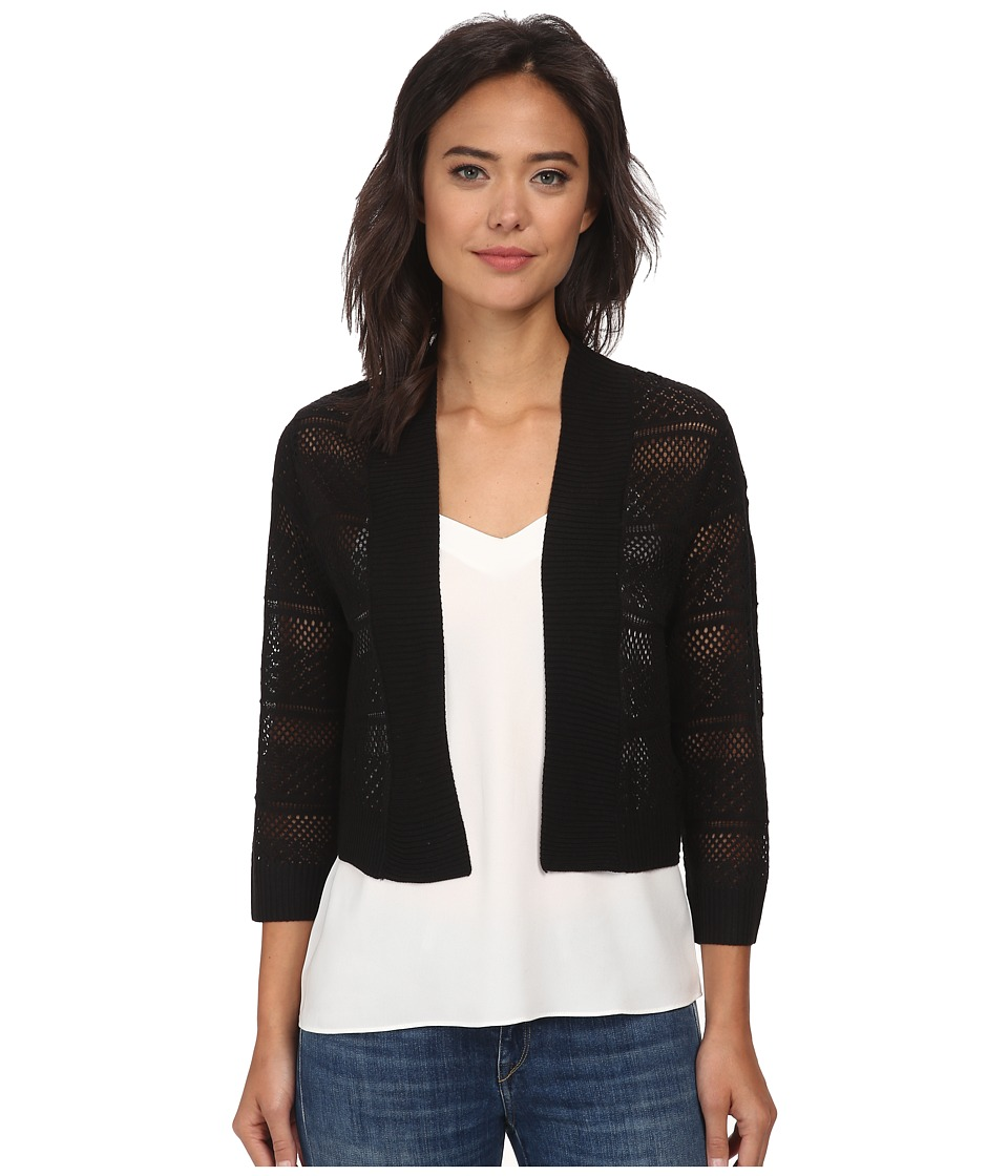 rsvp - Bre Crochet Shrug (Black) Women's Sweater