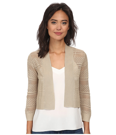 rsvp - Bre Crochet Shrug (Taupe) Women's Sweater
