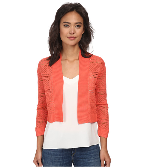 rsvp - Bre Crochet Shrug (Coral) Women's Sweater