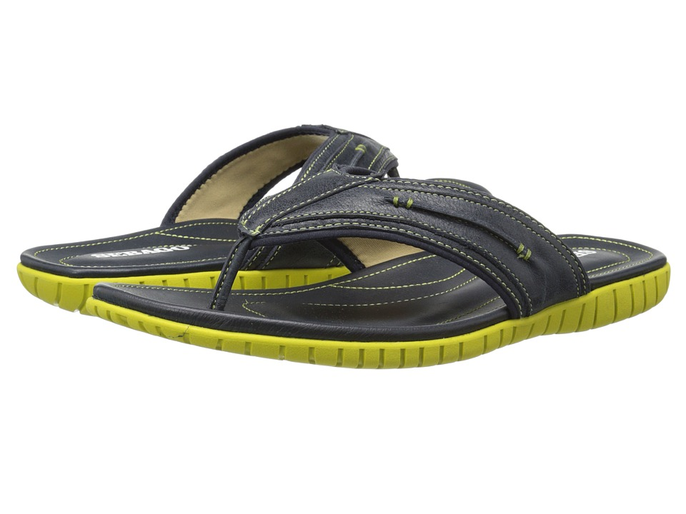 Sebago - Becket Thong (Navy Leather) Men's Sandals
