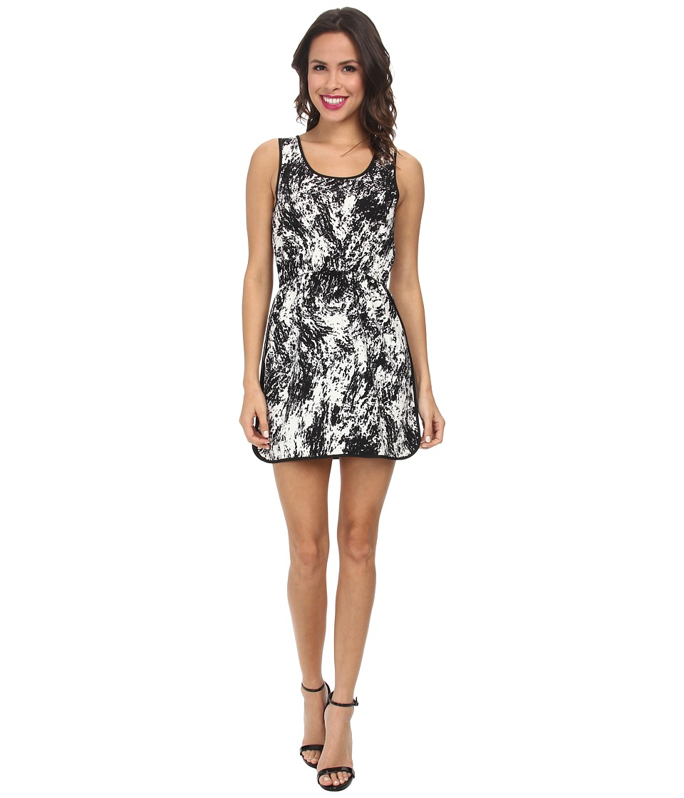 Gabriella Rocha - Galaxy Tea Length Dress (Black/White) Women's Dress