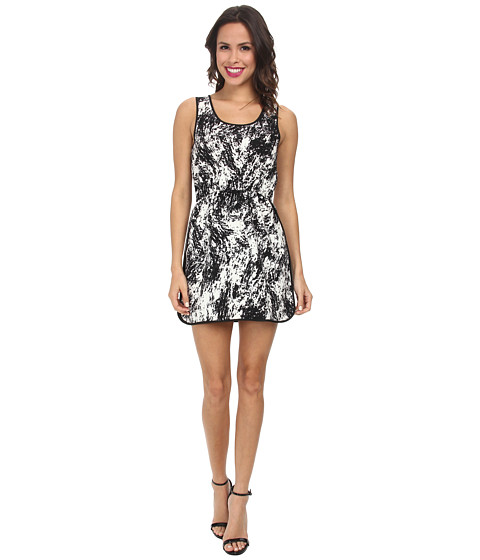 Gabriella Rocha - Galaxy Tea Length Dress (Black/White) Women's Dress