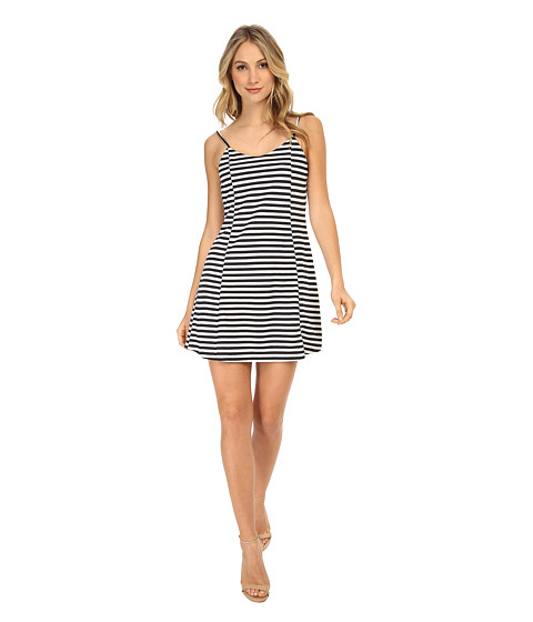 Gabriella Rocha - Stripe Fit and Flare Dress (Navy/White Combo) Women