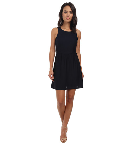 Gabriella Rocha - Amber Fit and Flare Dress (Navy) Women's Dress