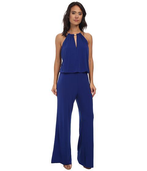 rsvp - Florence Halter Jumpsuit (Cobalt/Cobalt/Academy) Women