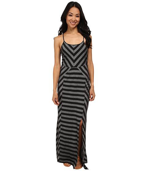 Culture Phit - Georgia Striped Maxi Dress (Black) Women's Dress