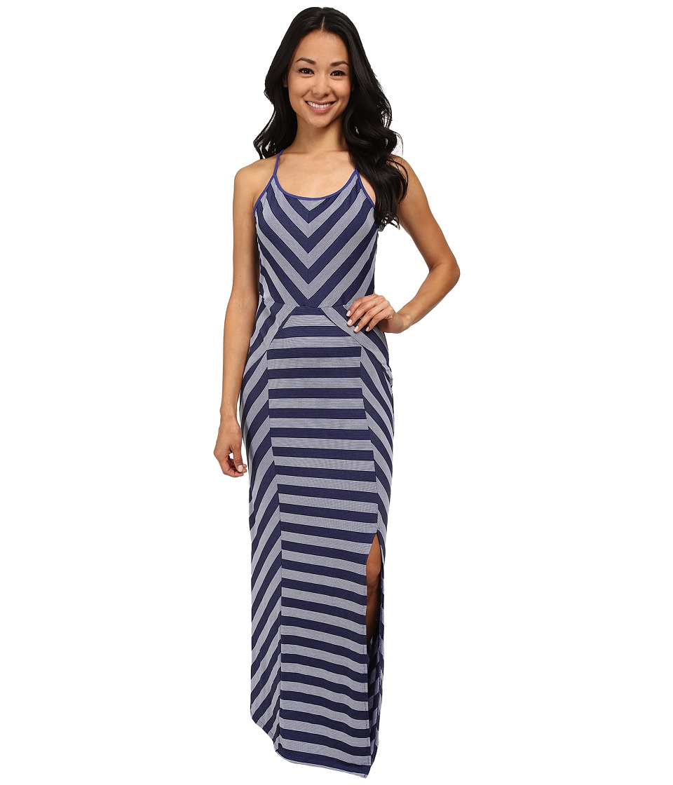 Culture Phit - Georgia Striped Maxi Dress (Navy Lagoon) Women