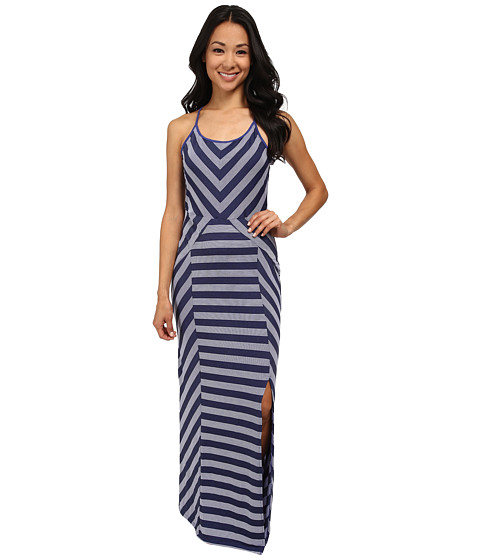 Culture Phit - Georgia Striped Maxi Dress (Navy Lagoon) Women's Dress