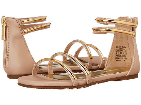 Ivanka Trump Kids - Golden Sandal (Little Kid/Big Kid) (Beige) Girls Shoes