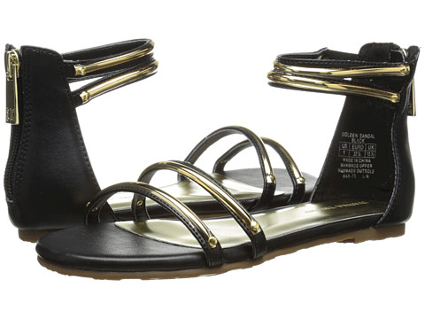 Ivanka Trump Kids - Golden Sandal (Little Kid/Big Kid) (Black) Girls Shoes