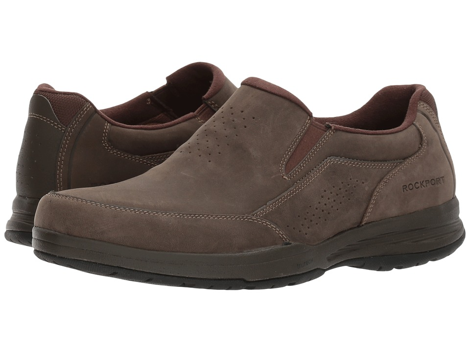 Rockport - Barecove Park Slip-on (Dark Brown Oiled) Men's Slip on Shoes