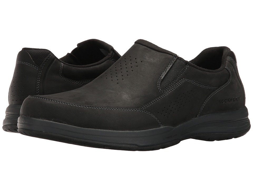 Rockport - Barecove Park Slip-on (Black Oiled) Men's Slip on Shoes