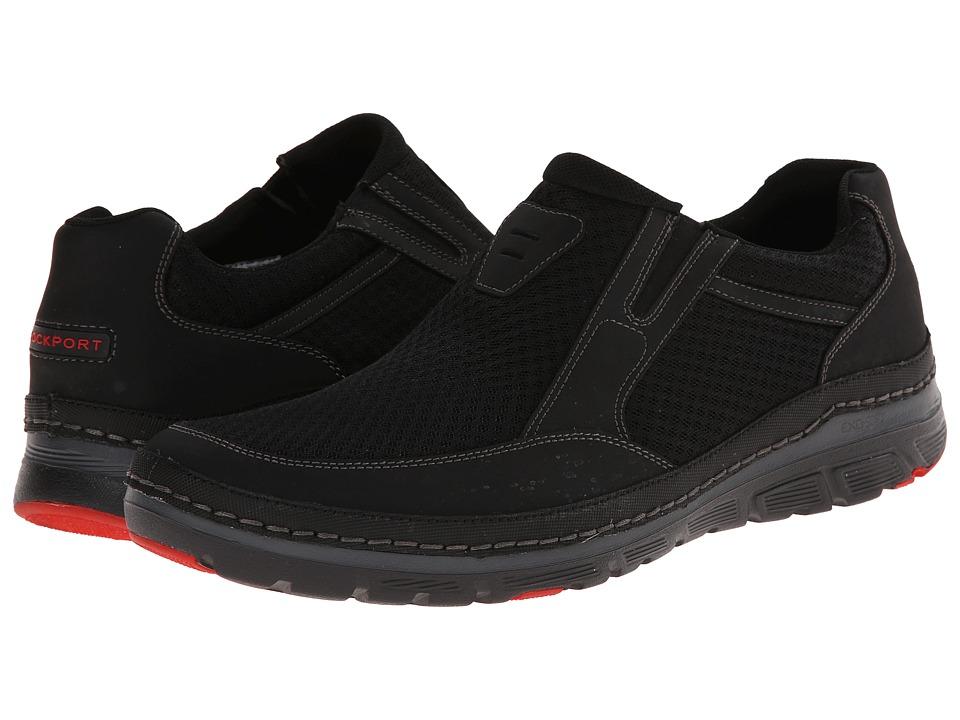 Rockport - Activflex Rocsports Lite Mesh Slip-on (Black Waxed Calf) Men