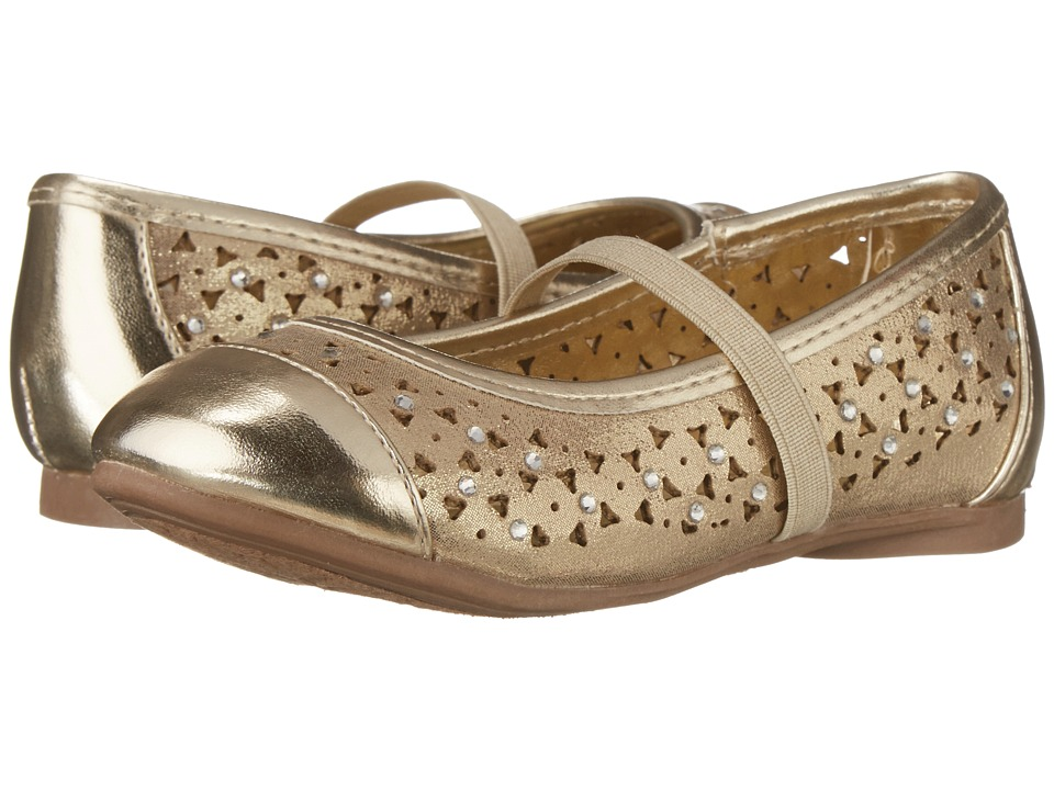 Kenneth Cole Reaction Kids - Tap N Gown 2 (Toddler/Little Kid) (Light Gold) Girl's Shoes