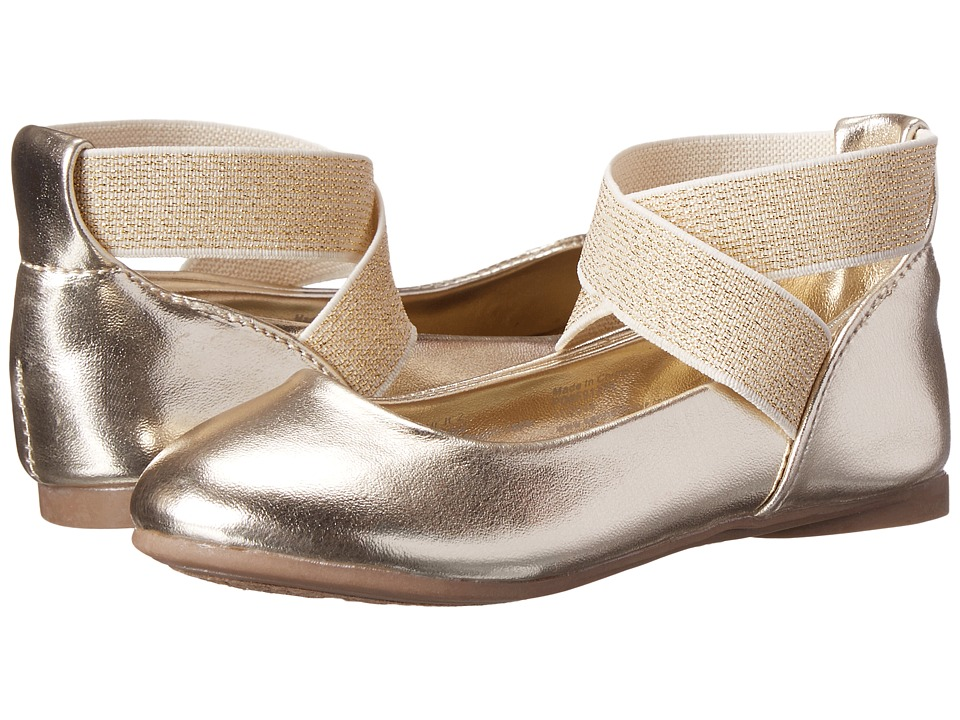 Kenneth Cole Reaction Kids - Tap Ur It 2 (Toddler/Little Kid) (Light Gold) Girl's Shoes