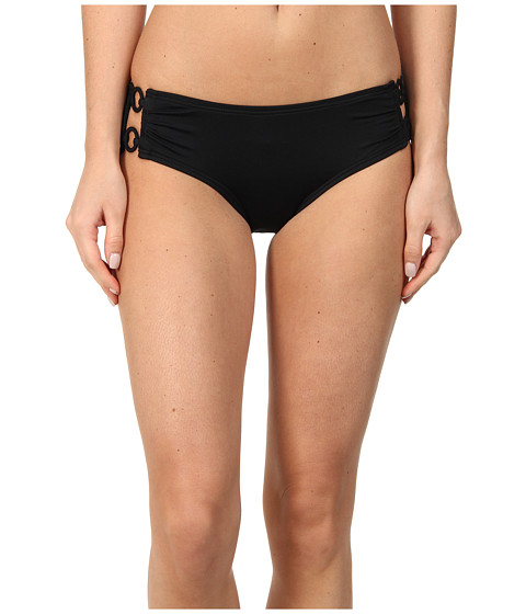 DKNY - Cover Ring Solids Hipster Bottom (Black) Women