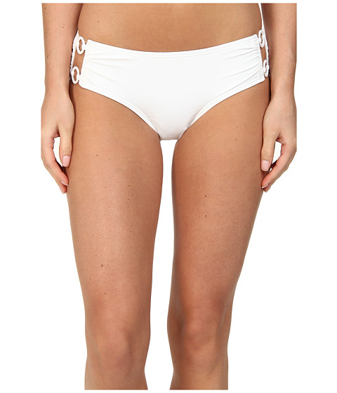 DKNY - Cover Ring Solids Hipster Bottom (White) Women
