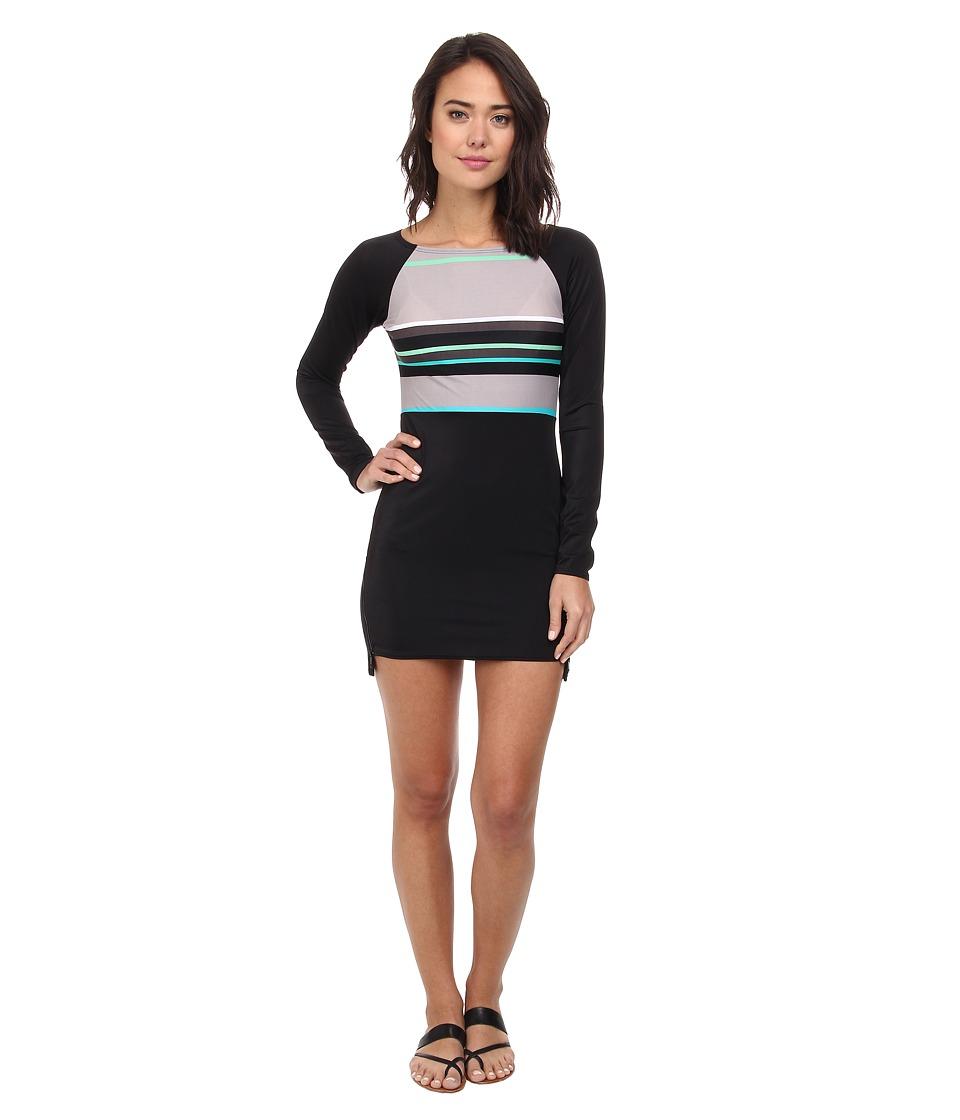 DKNY - Slip Stripes Scuba Dress Cover-Up (Sand Dune) Women