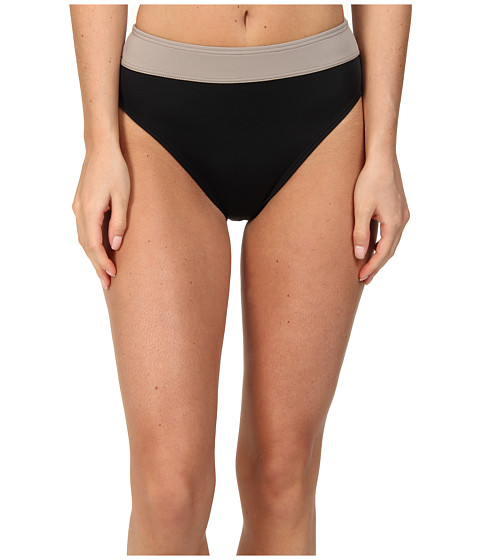 DKNY - Banded High Waisted Bottom (Black) Women's Swimwear