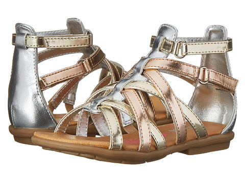 Kenneth Cole Reaction Kids - Thru The Hoop 2 (Toddler/Little Kid) (Metallic Multi) Girl's Shoes