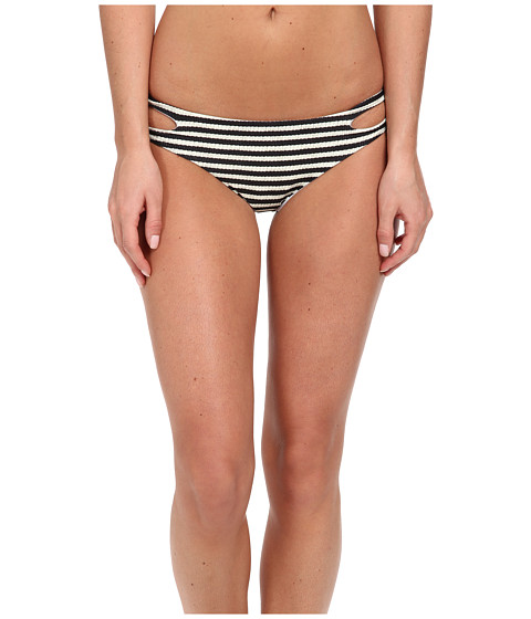 Billabong - Monterrico Stripe Capri Bottom (Black/White) Women