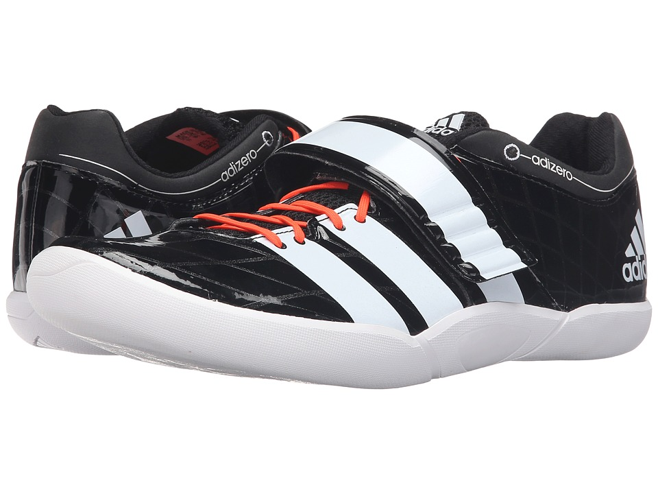 adidas - Adizero Discus / Hammer 2 (Black/White/Solar Red) Running Shoes