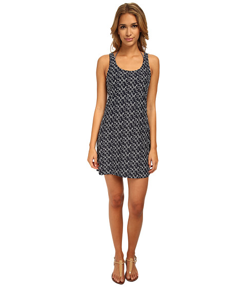 MICHAEL Michael Kors - Stacked Logo Tank Cover-Up (New Navy) Women
