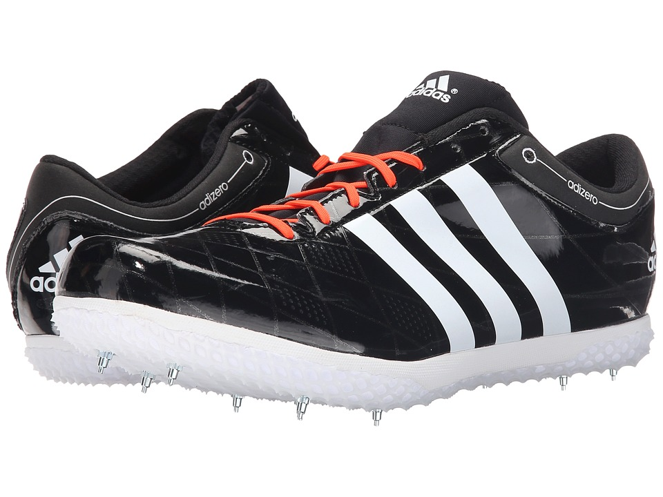 adidas - Adizero HJ FL (Black/White/Solar Red) Men's Running Shoes