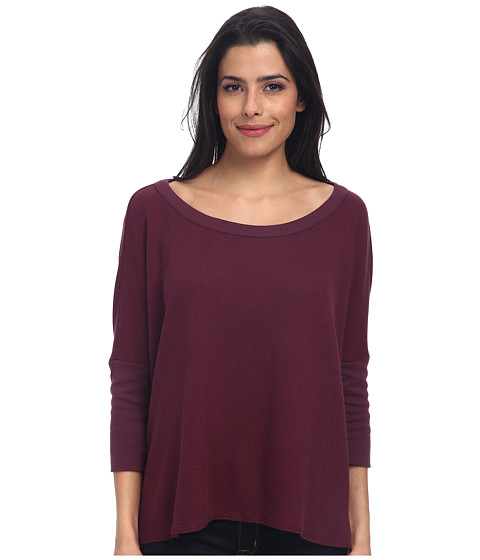Chaser - Hi-Lo Boxy Pullover (Chambord) Women