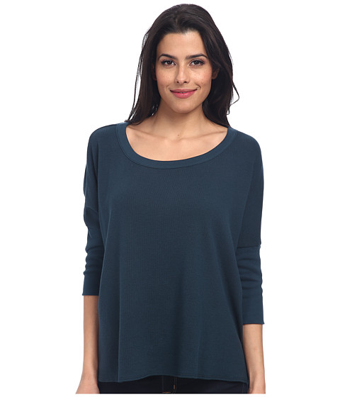 Chaser - Hi-Lo Boxy Pullover (Spruce) Women's Long Sleeve Pullover
