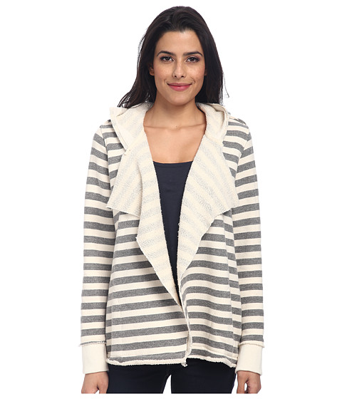 Chaser - Striped Hoodie Open Cardi (Dark) Women's Sweater