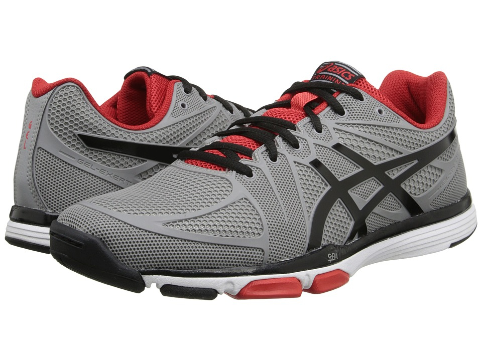 ASICS - GEL-Exert TR (Cement/Black/Red) Men's Cross Training Shoes