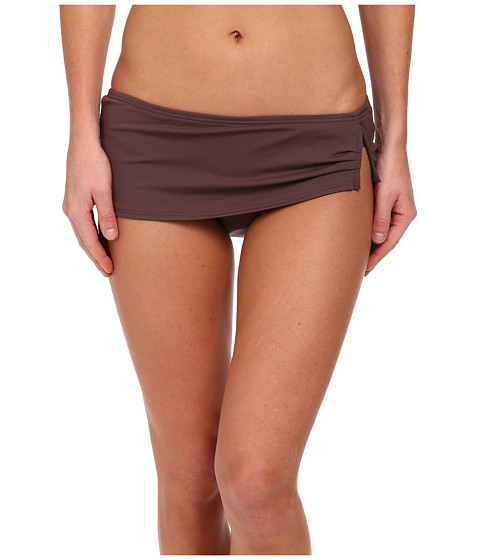 Vince Camuto - Ocean Drive Solids 'V' Wire Skirted Bottom (Teak) Women's Swimwear