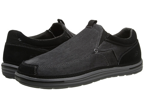 SKECHERS - Landen (Black) Men's Slip on Shoes