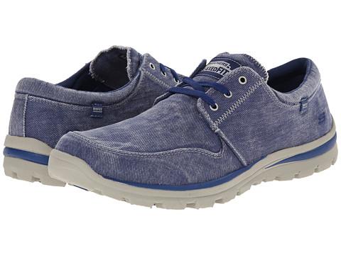 SKECHERS - Superior Elvin (Blue) Men's Lace up casual Shoes