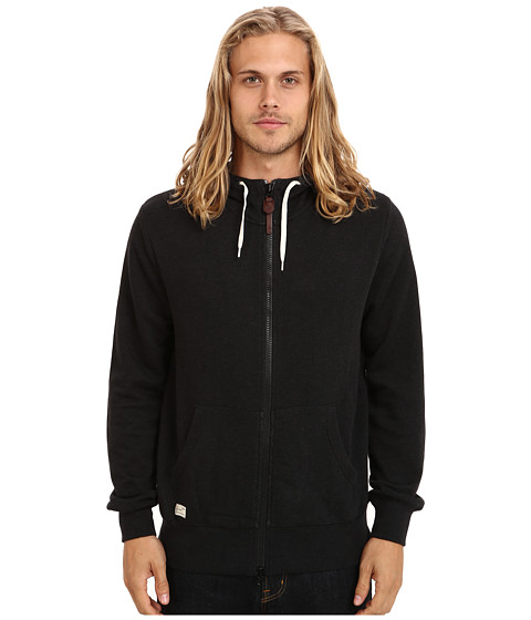 Marshall Artist - Zip Through Hoodie (Black Melange) Men's Sweatshirt