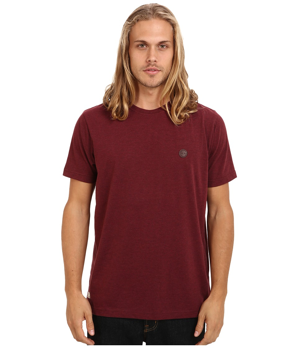Marshall Artist - Short Sleeved Classic T-Shirt (Burgundy Melange) Men's T Shirt