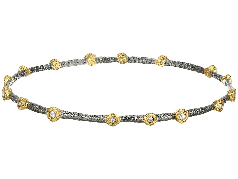 Alexis Bittar - Crystal-Studded Lace Bangle (Ruthenium/Gold) Bracelet