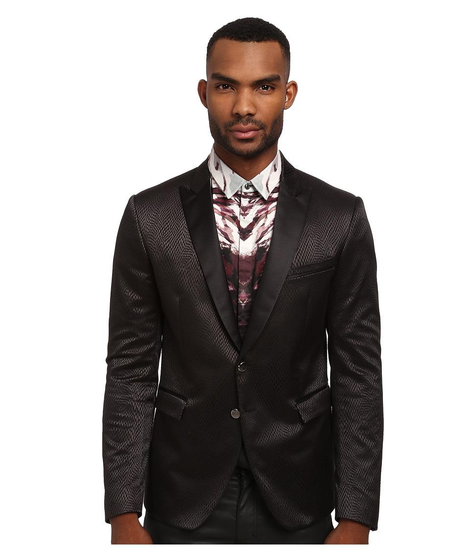 Just Cavalli - Python Jacquard Blazer (Black) Men's Jacket