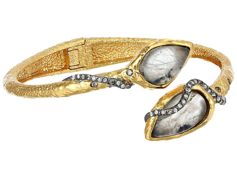 Alexis Bittar - Rocky Bypass Hinge w/ Custom Labradorite Doublets (Ruthenium/Gold) Bracelet