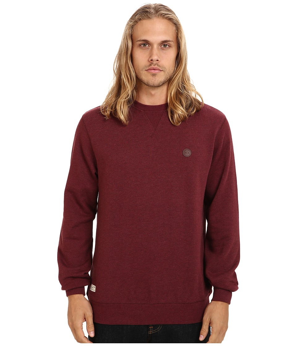Marshall Artist - Crew Neck Sweatshirt (Burgundy Melange) Men's Sweatshirt