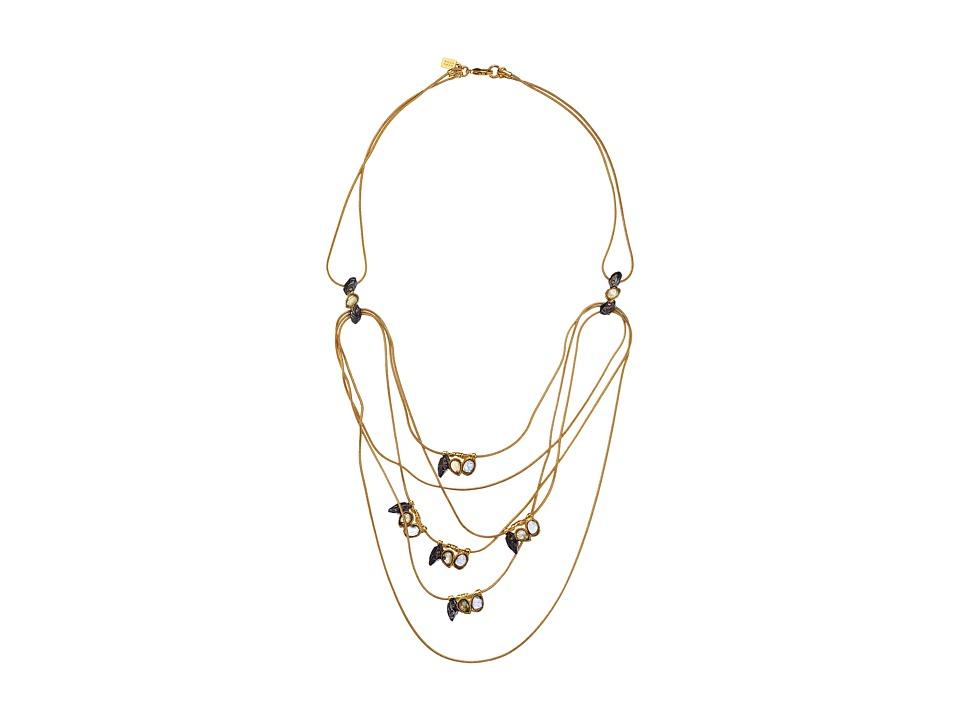 Alexis Bittar - Multistrand Rocky Station w/ Custom Labradorite Doublets (Gold) Necklace