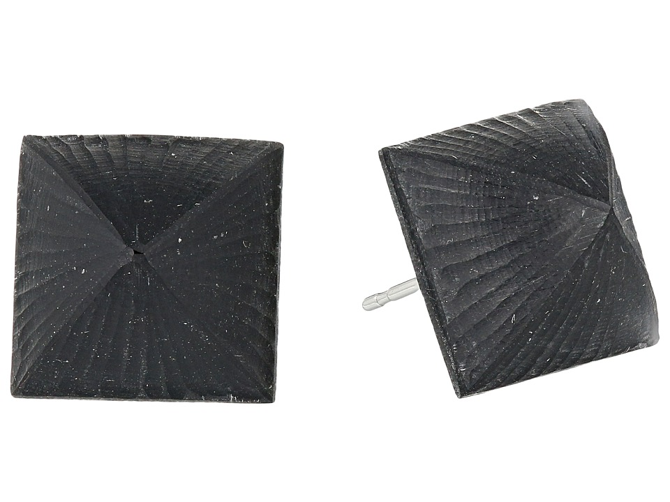 Alexis Bittar - Small Pyramid Post (Black) Earring