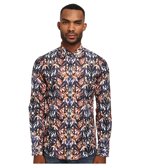 Just Cavalli - Python Floral Print Shirt (Orange Variant) Men