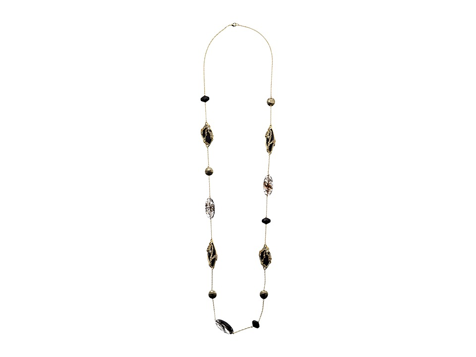 Alexis Bittar - Crystal Lace Station w/ Pyrite and Black Onyx (Warm Grey) Necklace